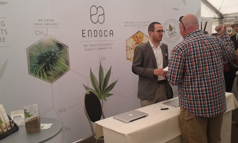 ENDOCA, a U.S. and Euro-based developer of CBD paste and oil at the EIHA Conference in May, 2015.