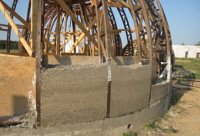 Hemp dome construction
