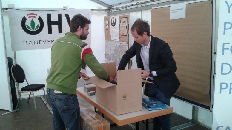 Joscha Krauss, MH medical hemp GmbH, and Juan Du Preeze, CannaVest Europe.