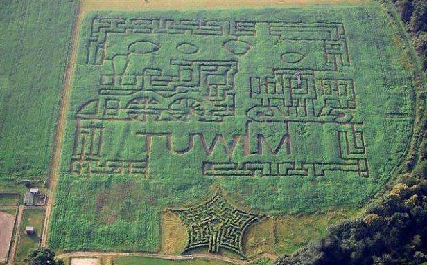 Hemp labyrinth at Kurozwęki Palace in Poland