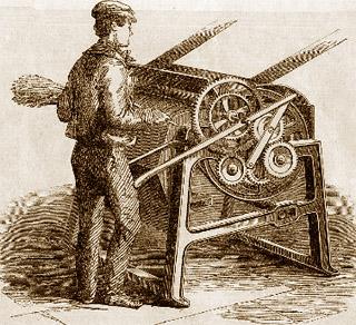 old school hemp processing machine