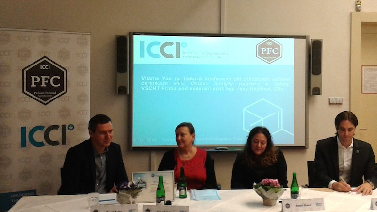 ICCI press conference in Prague, Czech Republic.