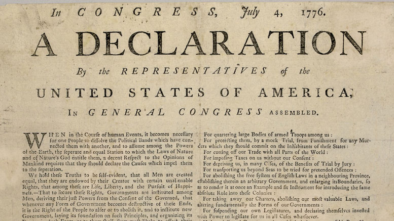 Declaration of Independence was written on parchment, not hemp paper.