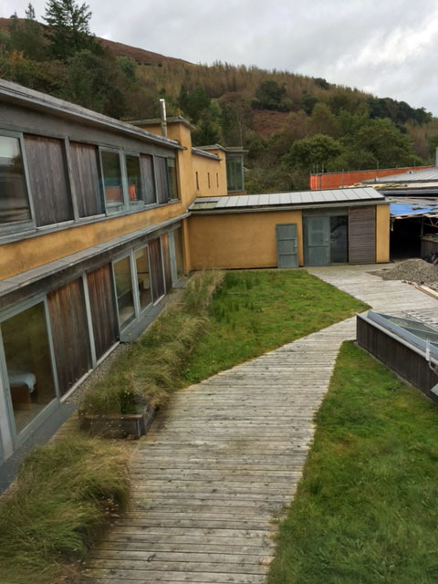 Hempcrete built dormitory at the Centre for Alternative Technology in Wales.