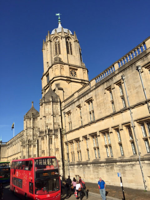 Sunny day in Oxford, United Kingdom.
