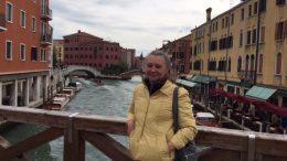 Pamela Bosch in Venice, Italy.
