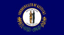 Commonwealth of Kentucky flag – United We Stand, Divided We Fall.