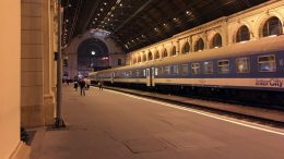 European train station interior view