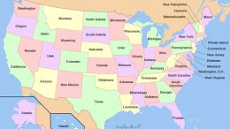 Color map of United States