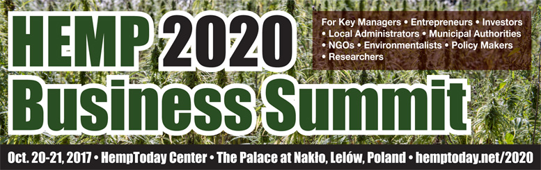 Hemp 2020 Business Summit held in Nakło, Poland.