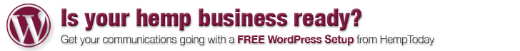 FREE WordPress website setup by HempToday