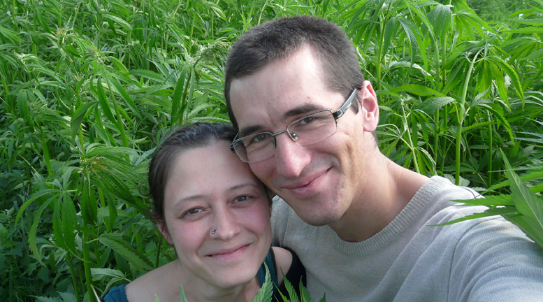 Maciej Kowalski and Beata Plutowska manage 600 hectares of hemp fields in northeastern Poland.
