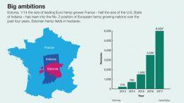 Estonia is now no. 2 European hemp grower.