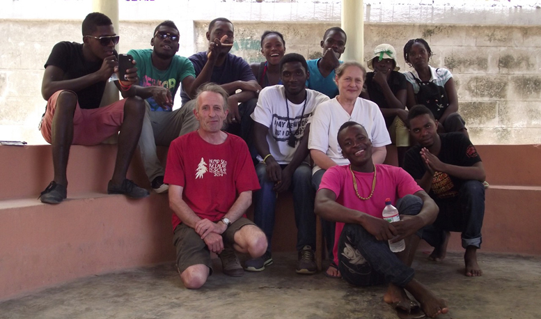 Steve Allin with an extended work crew at the Port au Prince site