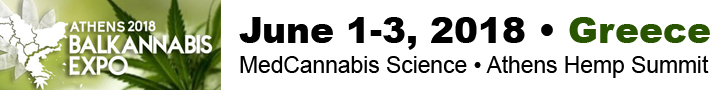 Balkannabis Hemp & Medical Cannabis Expo in Athens, Greece on June 1-3, 2018.