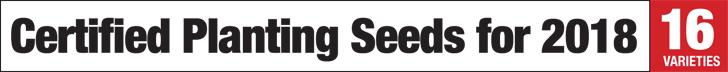 Certified hemp planting seeds.