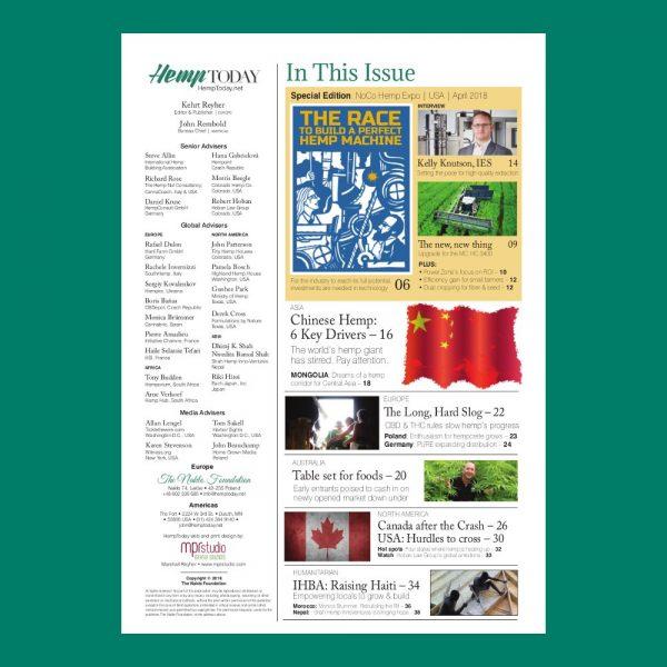 NoCo Hemp Expo 5 Special Edition print magazine.