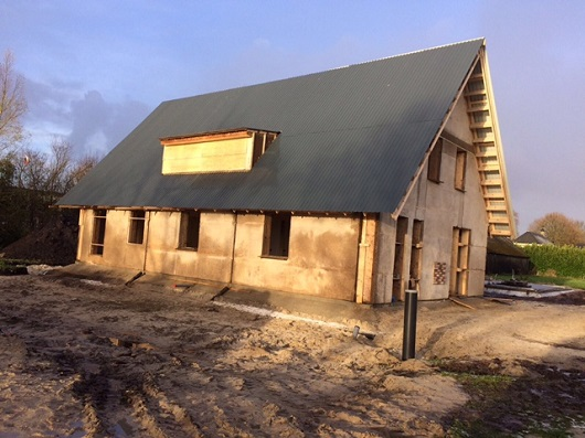 Hempcrete house in Holland