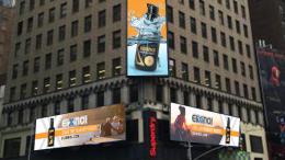 Elixinol advertising on times squre