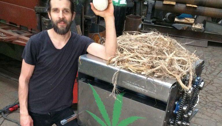 Kristaps Eglitis, maker of the MD1000 hemp micro-decorticator