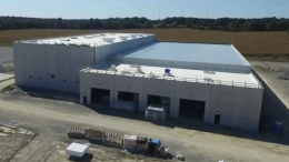 The GenCanna production site is going up in Mayfield, Kentucky, USA