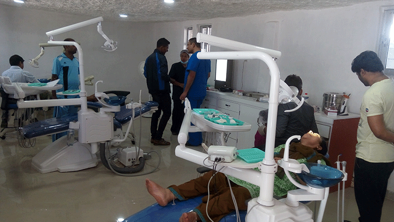 Dental care unit in the Janakpur craniofacial clinic.