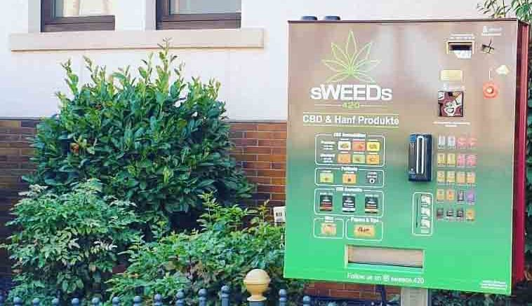 A vending machine offering CBD products in Germany.