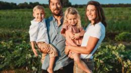 Family business: Jesse and Rachael Smedberg, with twins Wyatt and Charley.
