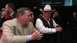 Lobbyist Todd Smith, left, with Texas Agriculture Commissioner Sid Miller.