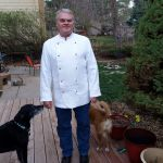 Tommy Mullins, modeling a hemp chef's jacket from Hemp Chef/Poland